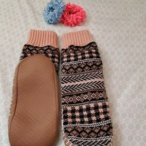 SLIPPER SOCKS AND SCRUNCHIES